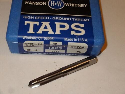 3 new HANSON WHITNEY 5//16-24 NF GH-4 H4 3FL Plug HSS Spiral Point Taps 21708 USA