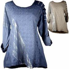AKH LAGENLOOK Jersey Long-Bluse Shirt Tunika Hemd 44 46 48 50 52  L-XL-XXL-XXXL