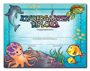kindergarten diploma sea creatures cool school studios package