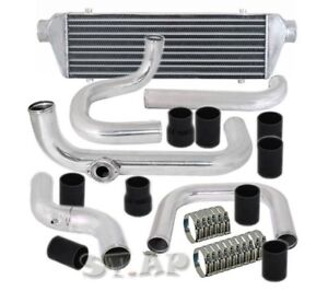 CIVIC-TURBO-28-034-INCH-INTERCOOLER-Aluminum-PIPING-KIT-BLACK-TYPE-RS-BOV-FLANGE