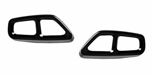 2x schwarz chrome Auspuffblenden für BMW G30 G31 G38 530d 535d 525d i AB/_12