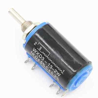 1pcs  WXD3-13-2W 1K ohm Rotary Multiturn Wirewound Potentiometer