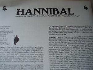 Jeu Hannibal - Rome et Carthage à la 2ème guerre punique 219 202bc Rare