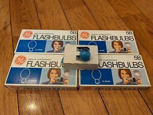 Lot of 4 boxes GE General Electric 5B M5 M2 Flashbulbs Bulbs (48 bulbs total)