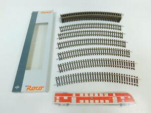 BN890-0-5-12x-Roco-H0-DC-42424-Gleis-Gleisstueck-gebogen-R4-R-4-NEUW-OVP