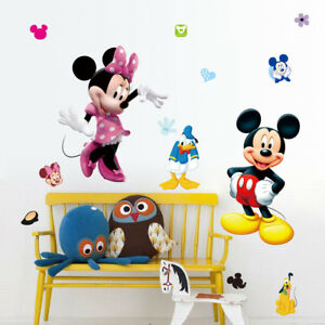 Mickey-Mouse-Minnie-room-decore-Vinyl-Mural-Wall-Sticker-Decals-Kids-Nursery