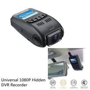 Auto Car Front & Rear 1080P Hidden Dual Dash Cam Lens DVR Recorder Night Vision