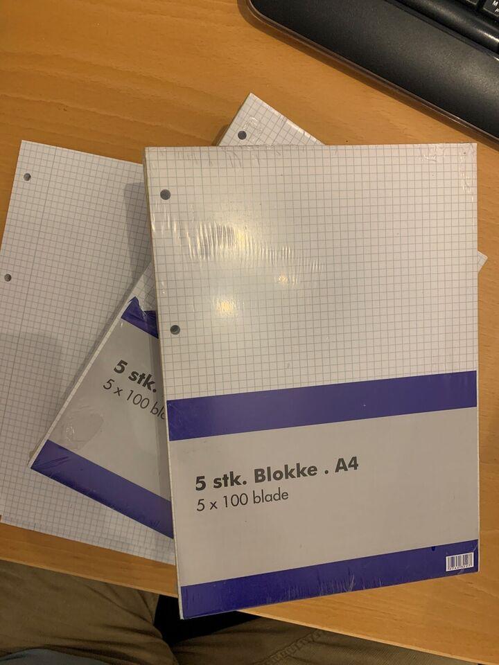 A4 blokke kvadratisk el. Kopipapir
