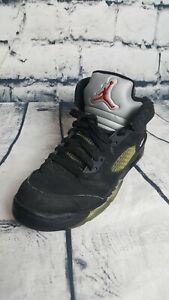 cheap for discount d09de 1f399 Image is loading Nike-Air-Jordan-5-Retro-Black-Metallic-Silver-