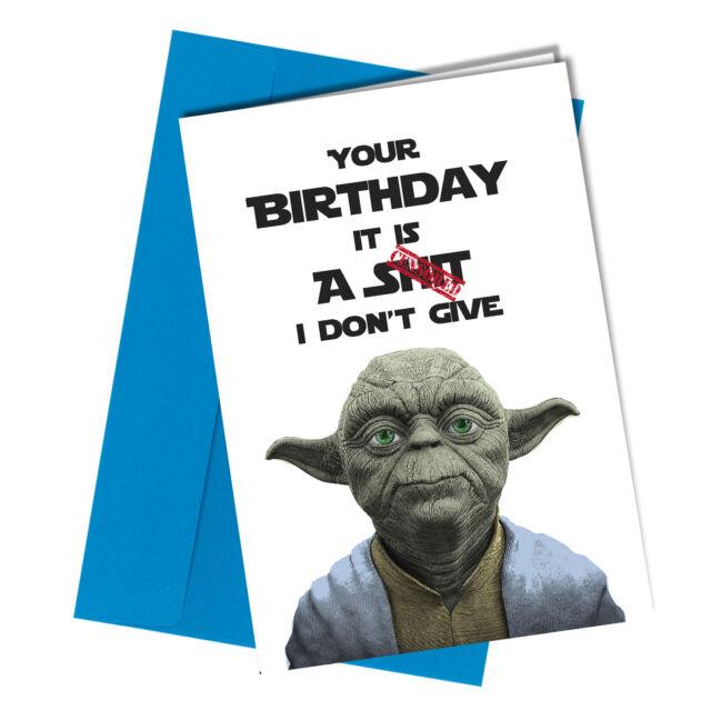 18 Yoda Star Wars Birthday Card Adult Friend Family Humour Funny