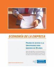 Economía de la Empresa : Prueba de Acceso a la Universidad para Mayores de 25...