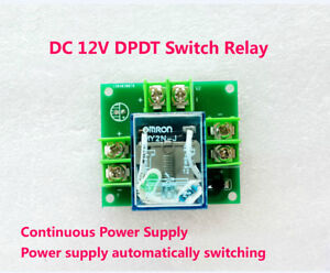 Details about 12V 5A Double Pole Double Throw DPDT Switch Relay Dual Power  Automatic Transfer
