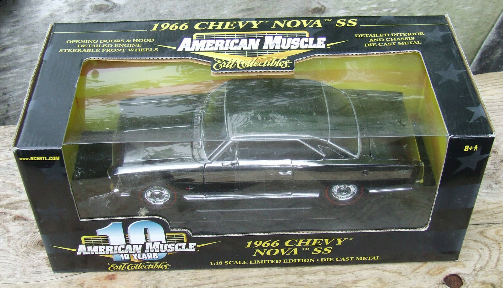 ERTL 1-18 '66 Chevy Nova ULTRA RARE CHROME CHASE CAR