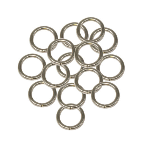 13mm Silver Slit O Ring Stainless Steel Women Webbing Purses Handbag Strap Bag