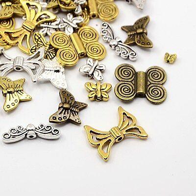 40 pièces entre perles spacer perles papillon mélangé 1395
