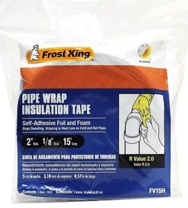 Details about PIPE WRAP INSULATION TAPE R VALUE 2 0 SELF ADHESIVE FOIL &  FOAM ONE STEP INSTALL