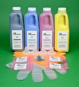HP 5500 5550 4-Color (CYMK) Toner Refill Kit with Chips