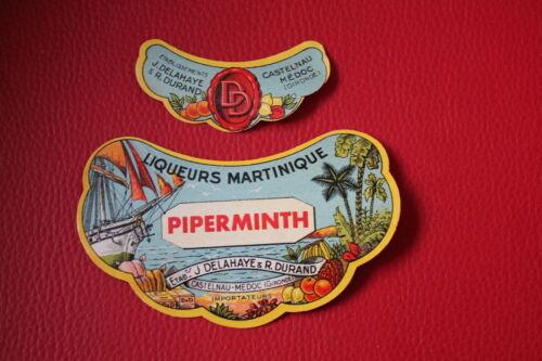 Lot 6 Etiquettes anciennes 6 cols  Delahaye Durand Castelnau De Médoc Vintage