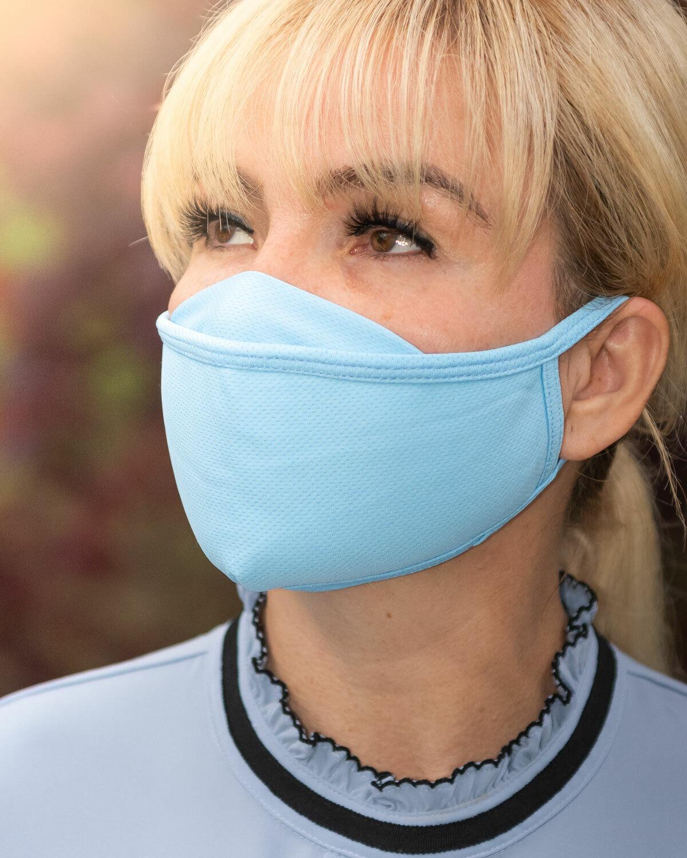 Face Mask Premium Organic Cotton 3 x Pack Blue US Seller Fast Ship Washable