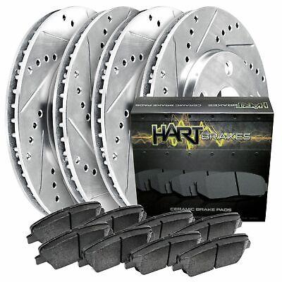 Fit 2011-2015 Mini Cooper HartBrakes Full Kit  Brake Rotors+Ceramic Brake Pads