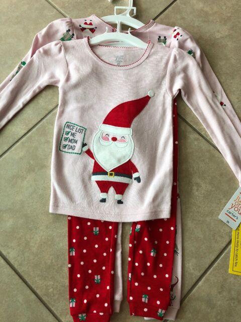 2T Toddler//Kid - Elf Carters Little Girls 2 Piece PJ Set