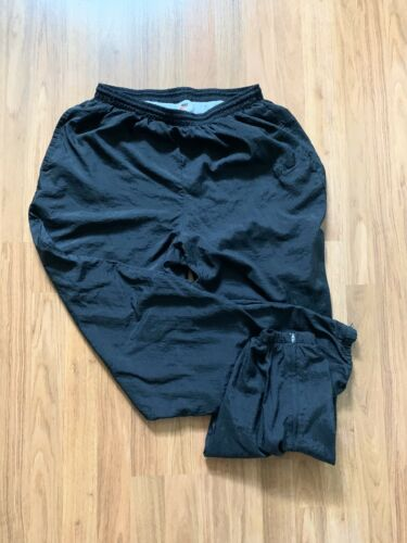VTG Nike Lined Black / Black Trackpants White Tag