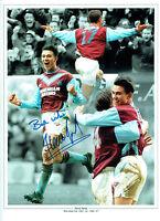 Steve JONES Signed Autograph West Ham United 16x12 Montage Photo AFTAL COA