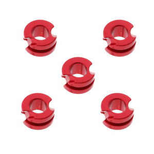 5Pcs Archery Aluminium Peep Sight for Compound Bow Hunting 3/16inch Red