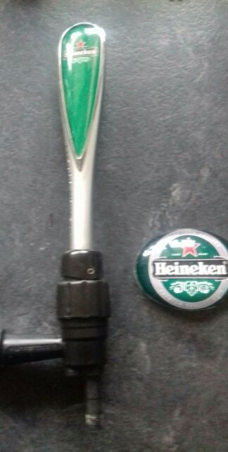 HEINEKEN TBAR BEER PUMP TAP AND BADGE HOME BAR PUB EQUIPMENT