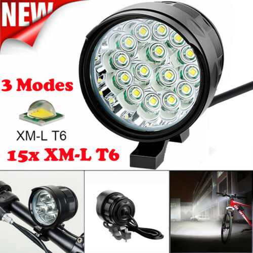 Super Bright 15X LED 3 Modes Bicycle Lamp Bike Light Headlight Cycling Torch US