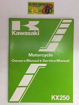 Kawasaki Factory Service Repair Shop Manual 1984 KX250 C2