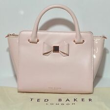 NWT $295 Ted Baker London Ashlene Bow Leather Satchel Bag Purse Tote Nude Pink