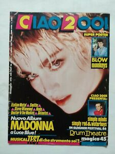 RARE CIAO 2001 N. 27 1986 + POSTER MADONNA LUCE BLU SIMPLE MINDS BLOW MONKEYS