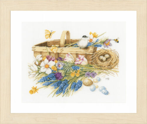 Counted Cross Stitch Kit Lanarte PN-0155029 Spring Flowers