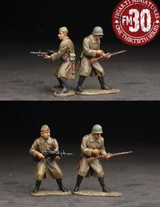 FIGARTI PEWTER WW2 RUSSIAN EFR-013 INFANTRY WITH MACHINE GUN & RIFLE MIB