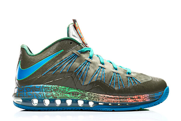 Nike Air Max LeBron 10 X Low Swamp Thing Reptile size 14. 579765-301 what the se best-selling model of the brand