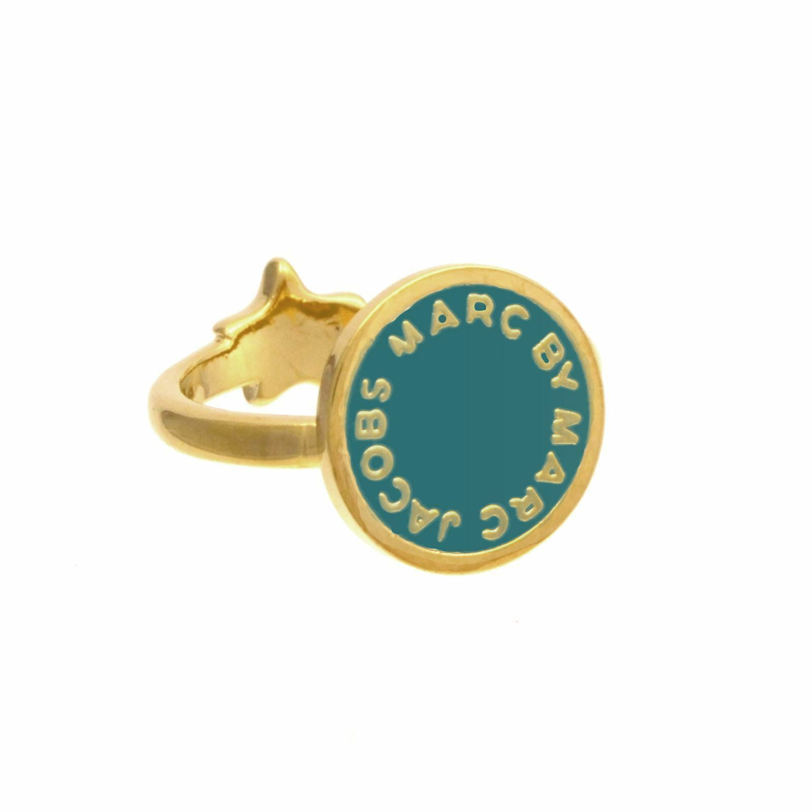 BNWT - Marc by Marc Jacobs-Starry Marc Disc Logo Double Ring (Small-16.5mm wide)