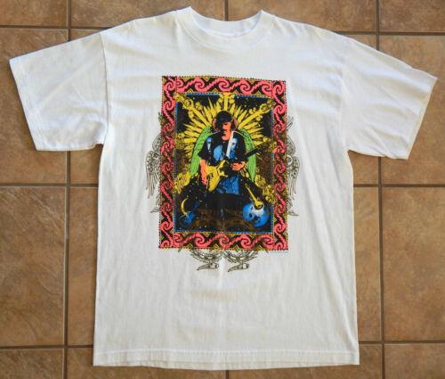 1994-96 ORIGINAL CARLOS SANTANA WORLD TOUR T-SHIRT GUITAR ROCK CONCERT L UNWORN