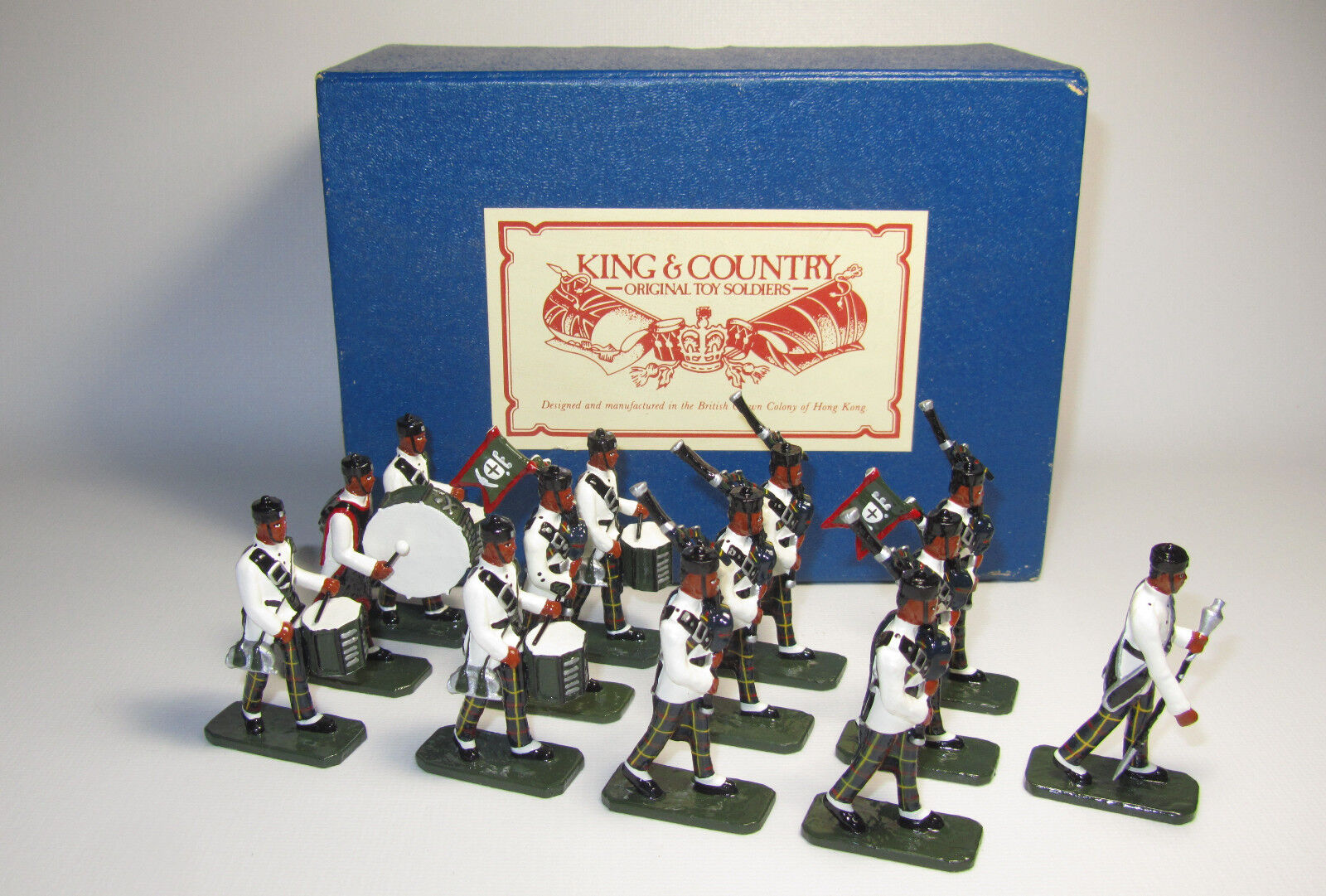 King & Country Glossy  GRPD1 10th Gurkha Rifles Pipes Pipes Pipes & Drum Band  K&C 8410.1 d90fa8