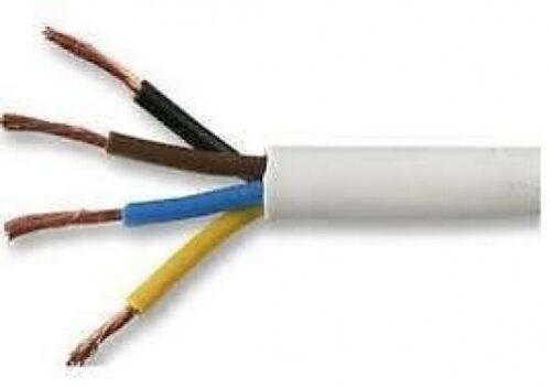1.5 MM 4 /& 5 CORE WHITE 240 VOLT MAINS ELECTRICAL FLEX FLEXIBLE CABLE WIRE CORD