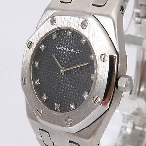 Audemars Piguet Royal Oak Unisex Uhr Diamanten 0 12 Ct 750er 18