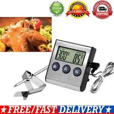 Digital Oven Thermometer Kitchen Food Meat BBQ Probe Temperature Cooking Tool UK