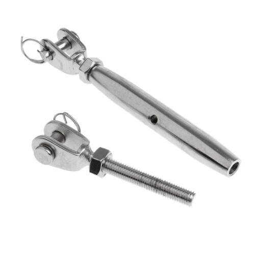 """M12 Marine 304 Stainless Steel Closed Body Jaw Turnbuckle Rigging Screw 1//2/"""""""