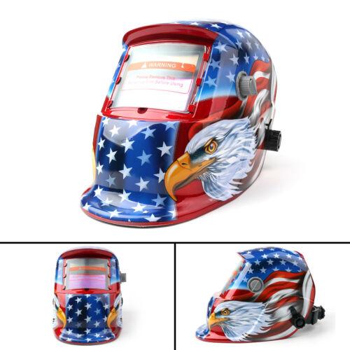 Solar Powered Auto-Darkening Welding Helmet Grinding TIG Welder Mask Hood PY