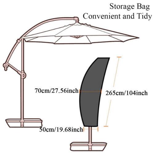 Parasol banana umbrella cover cantilever outdoor garden patio shield waterpro *u