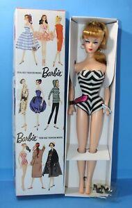 NRFB-1-Barbie-BLONDE-Ponytail-Doll-Swimsuit-Shoes-Box-1959-Vintage-Reproduction