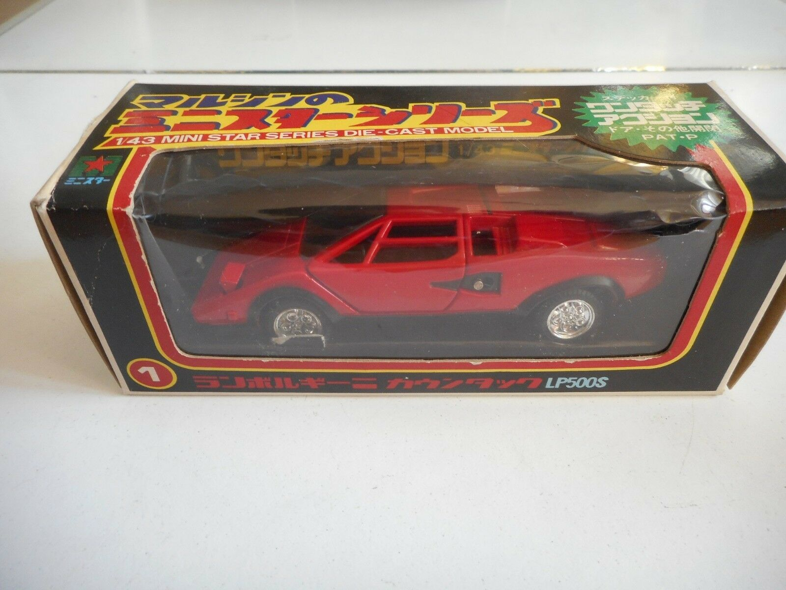 Mini Mini Mini Star Series Lamborghini Countach LP500S in Red on 1 43 in Box 1465a1
