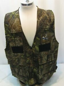 Quail-Unlimited-Camo-Fowl-Game-Hunting-Vest-Zip-Front-Men-s-Xl-Cargo