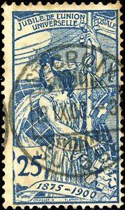 SUISSE-SWITZERLAND-SCHWEIZ-1900-034-Ste-CROIX-SUISSE-034-on-Mi-73-II-25c-T-II