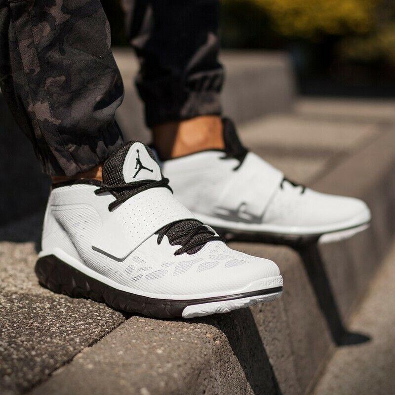 Nike Jordan Flight Flex Trainer 2 White White White Black Men's Training shoes Size 14 f90421